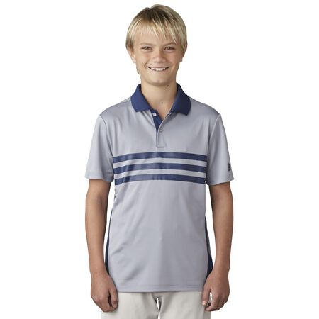 Boys 3-Stripes Chest Print Polo