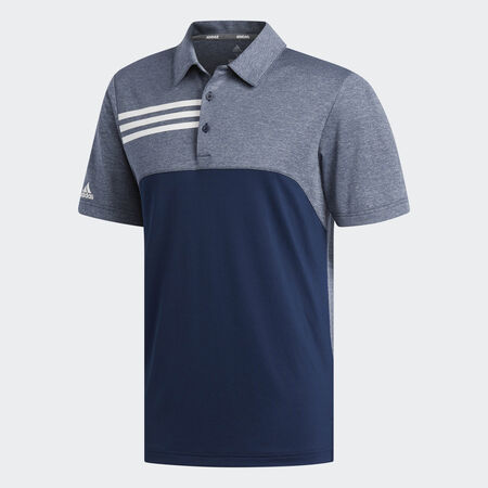 3-Stripes heather blocked polo