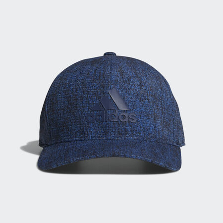 Heathered printed snap back